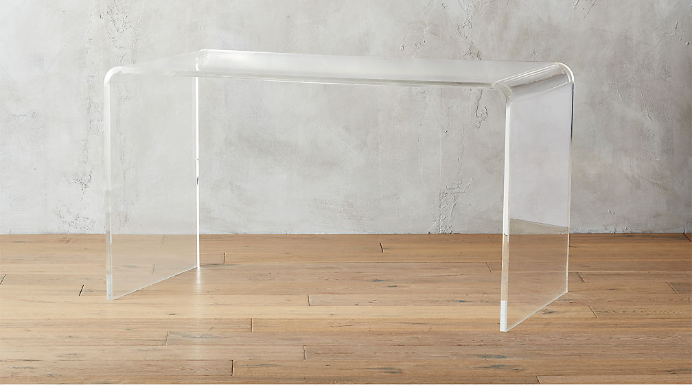 Peekaboo Acrylic Desk Reviews Cb2