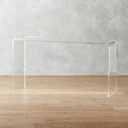 "peekaboo 56"" acrylic console table"