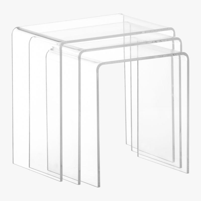 3piece peekaboo acrylic nesting table set Reviews CB2