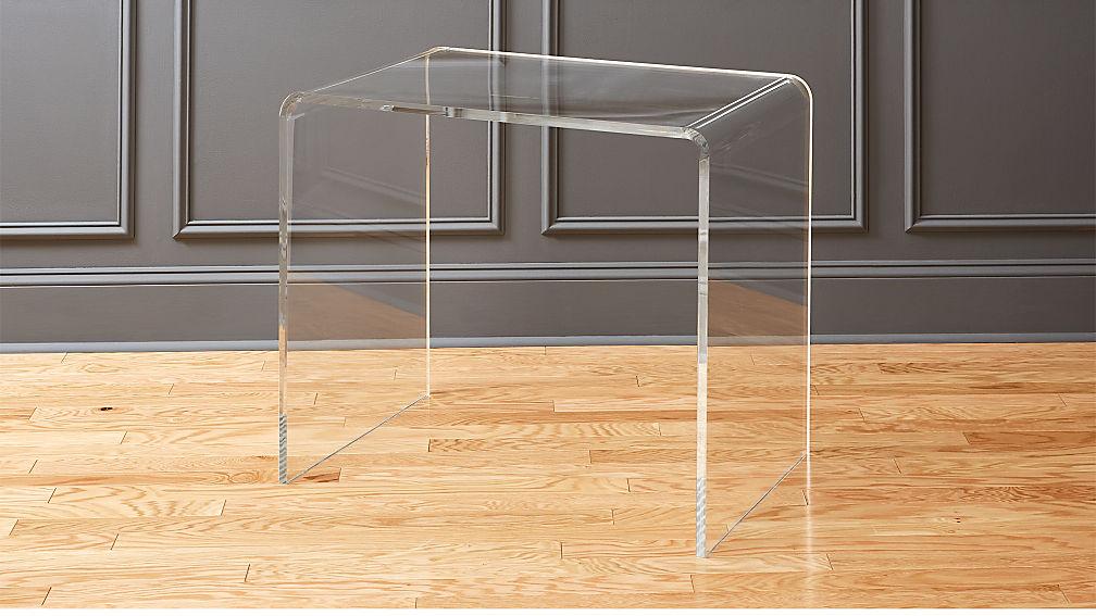peekaboo acrylic office console