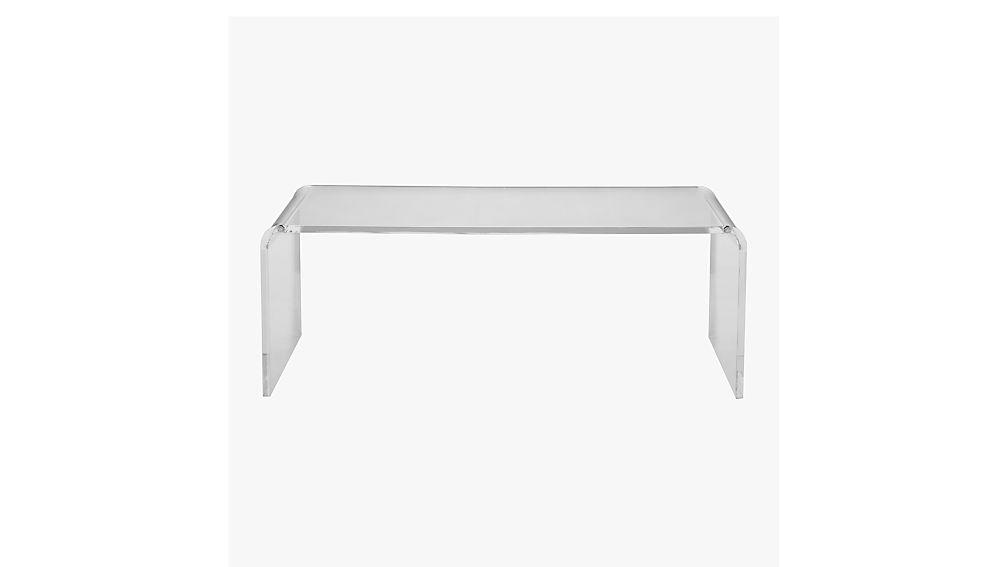 Peekaboo acrylic tall coffee table cb2 - How tall is a coffee table ...