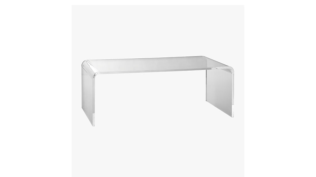 peekaboo acrylic tall coffee table