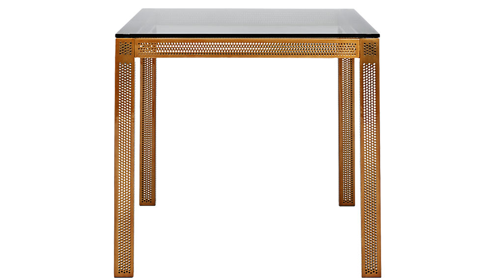 perforated glass desk