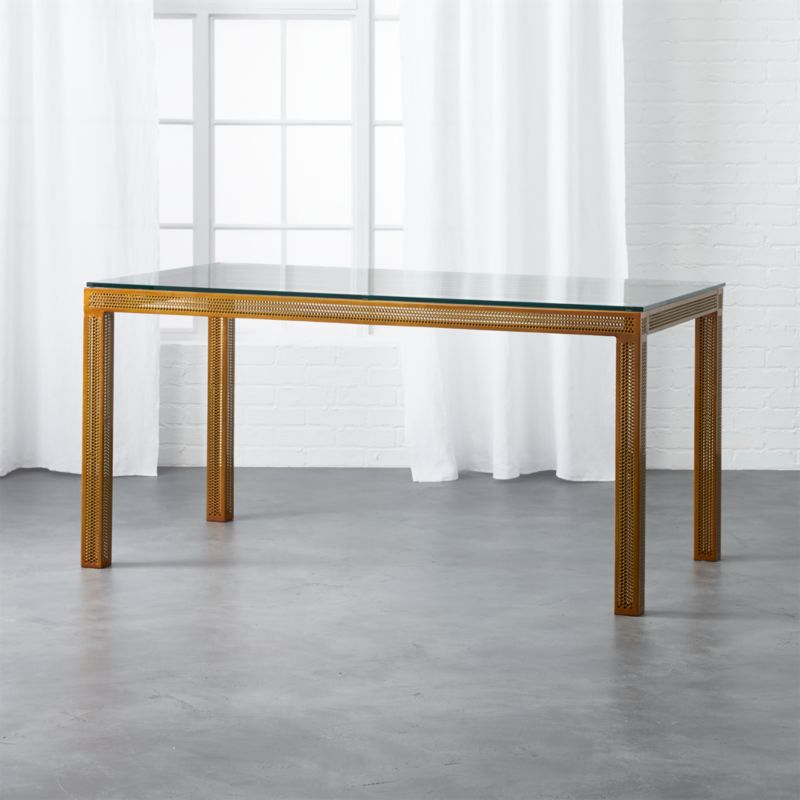 Perforated Glass Desk Table