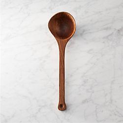 mid-tone wooden ladle