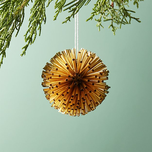 Perry Antiqued Gold Ball Ornament