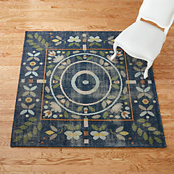 petal hand-knotted rug