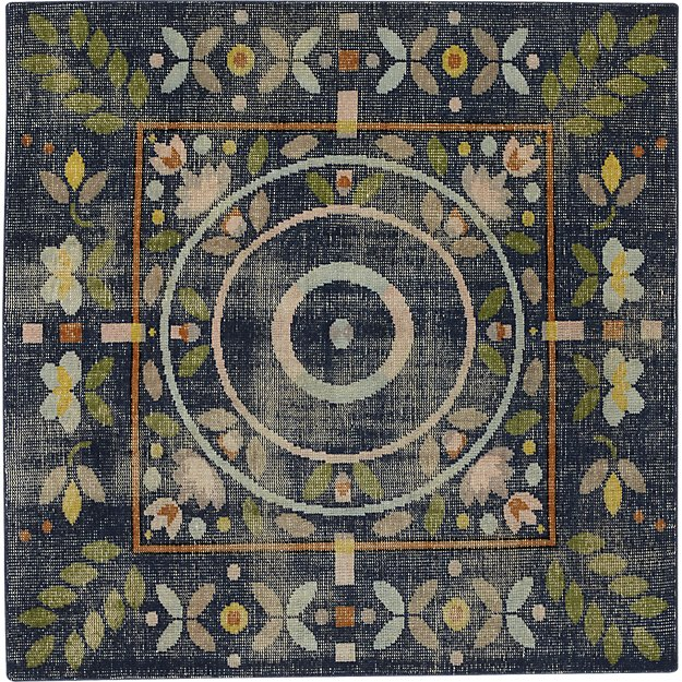 petal hand-knotted rug 6'