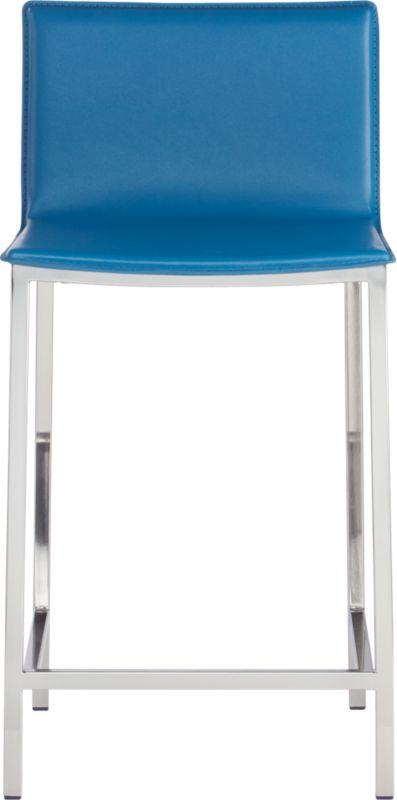 "phoenix swoon blue 24"" counter stool"