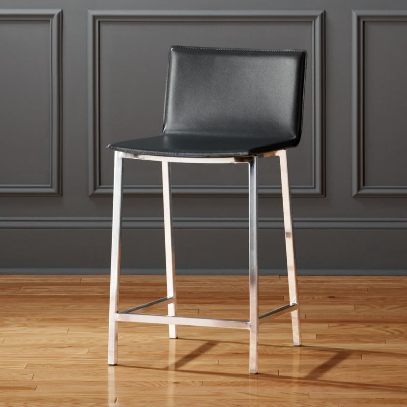 Superior Modern Leather Bar Stools