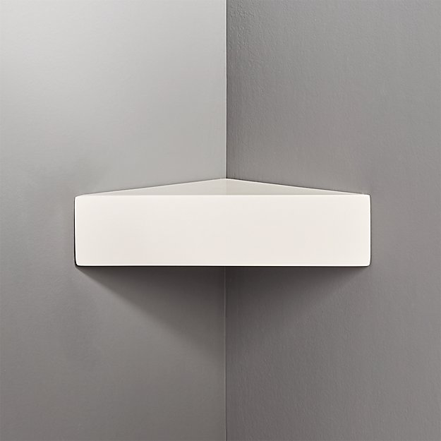 Piano White Corner Shelf