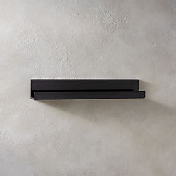piano black wall shelf 24""