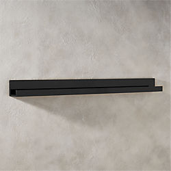 piano black wall shelf 48""