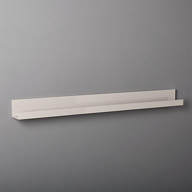 """Piano Grey Wall Shelf 48"""""""