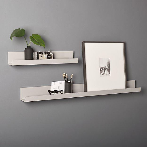 Piano Grey Wall Shelves