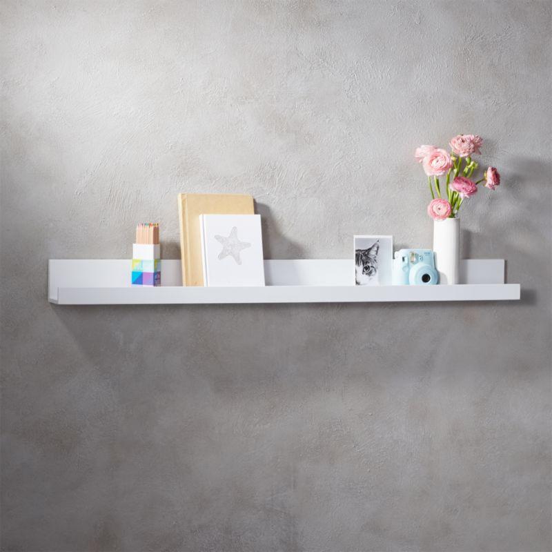 floating shelves cb2. Black Bedroom Furniture Sets. Home Design Ideas