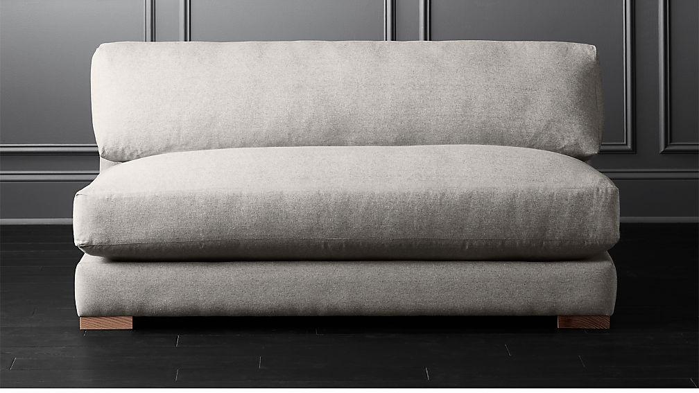 Piazza Steel Grey Apartment Sofa Cb2