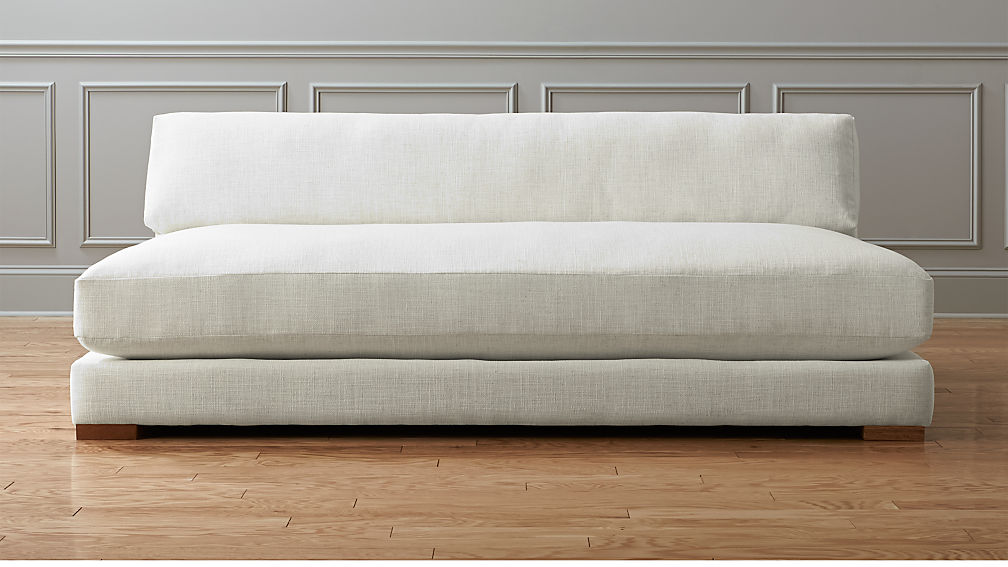 Piazza White Armless Sofa Cb2