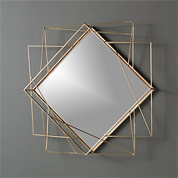 "piazza wire 22.5""x22.5"" wall mirror"