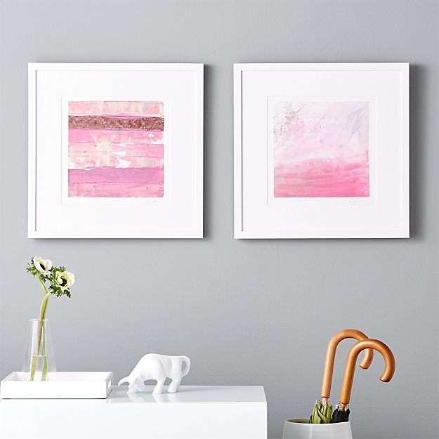 2-piece pink stripes painting set