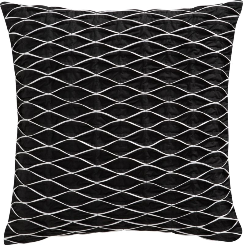 """pin-up black and white 18"""" pillow"""