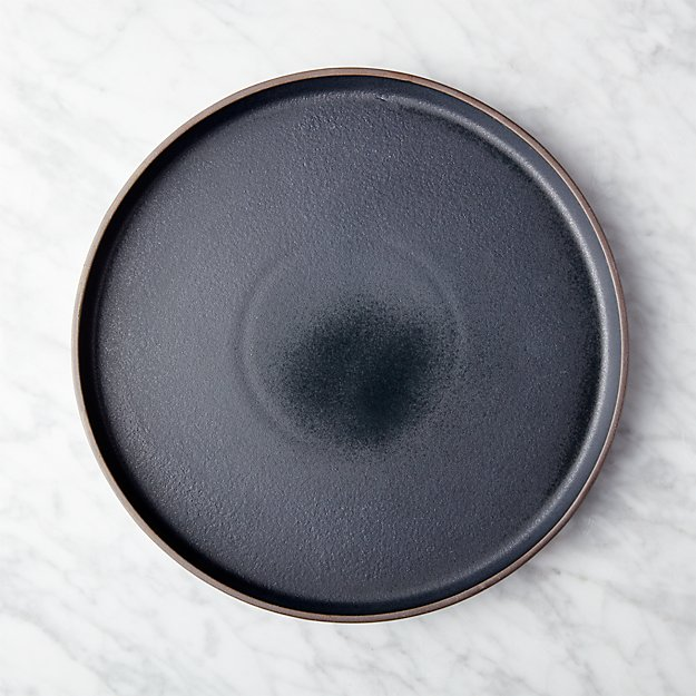 Pitch Matte Black Dinner Plate In Dinnerware Reviews Cb2