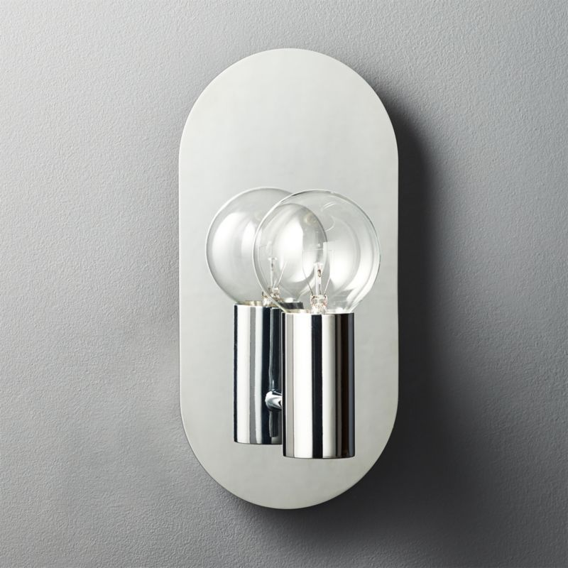 Plate Stainless Steel Wall Sconce CB2