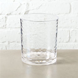 play clear acrylic double old-fashioned glass