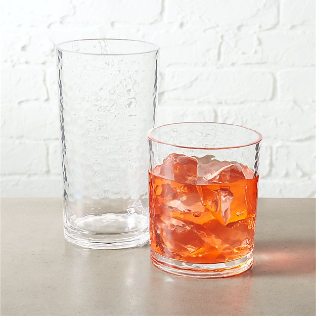 play clear acrylic barware