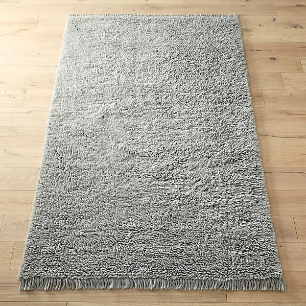 Plush Wool Shag Grey Rug