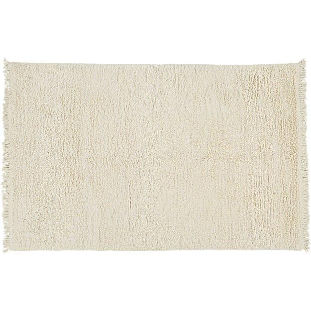 Plush Wool Shag Ivory Rug 9'x12'