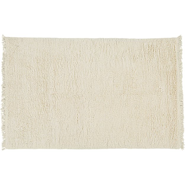 Plush Wool Shag Ivory Rug 6'x9' + Reviews