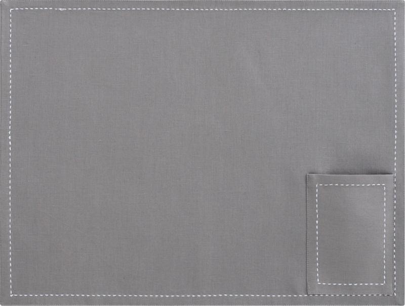 pocket grey placemat