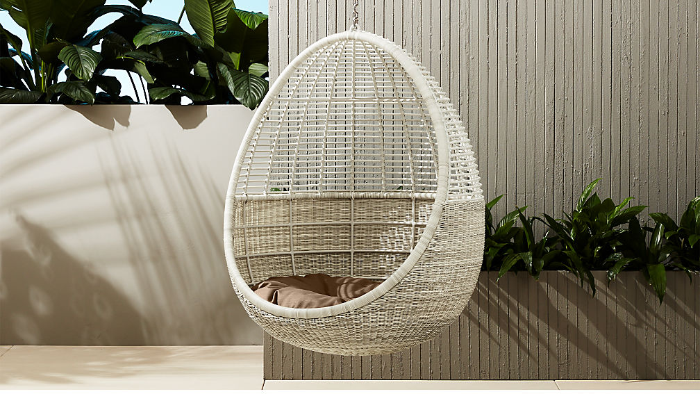 Pod Hanging Chair With Cushion Reviews Cb2