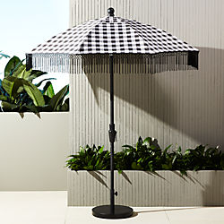 poleng gingham umbrella with base