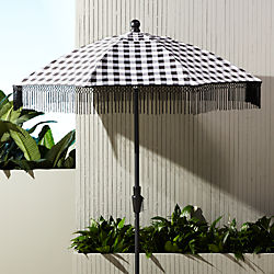 poleng gingham umbrella shade with pole