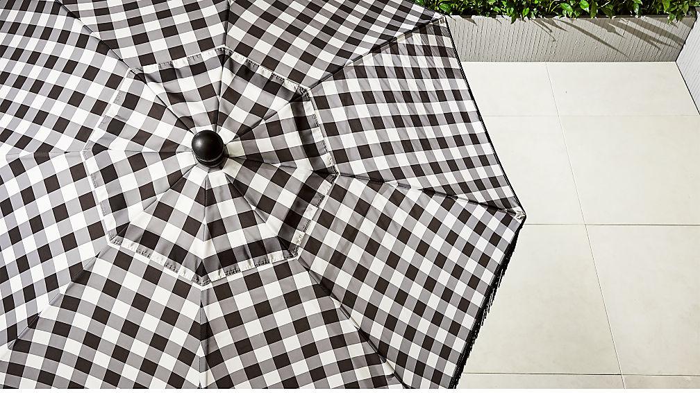 poleng gingham umbrella shade