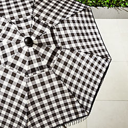 poleng gingham umbrella shade