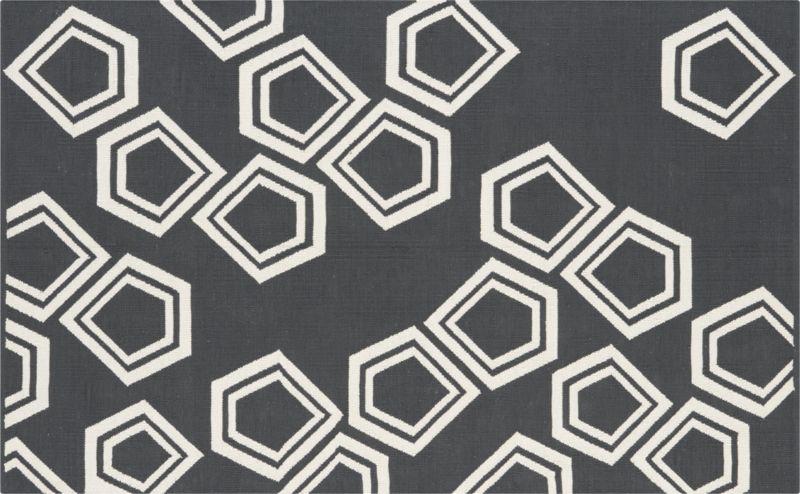 polygon dhurrie charcoal rug 5'x8'