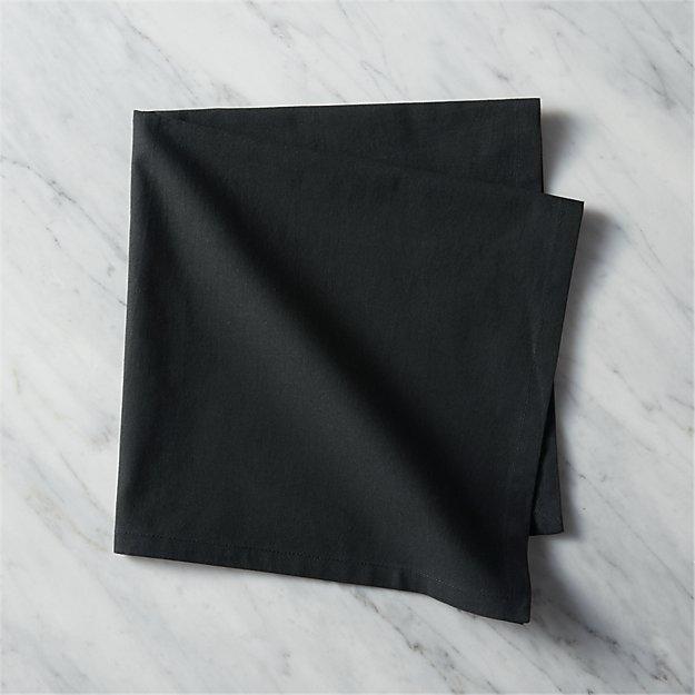 poplin black napkin