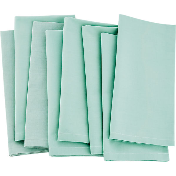 PoplinNapkinLightEmeraldS8S17