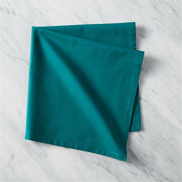poplin teal napkin
