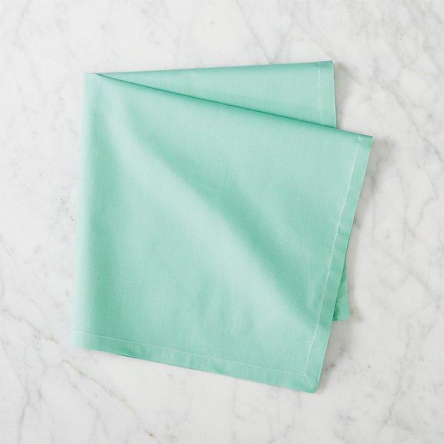 poplin light emerald napkin