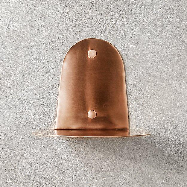 portal brushed copper shelf