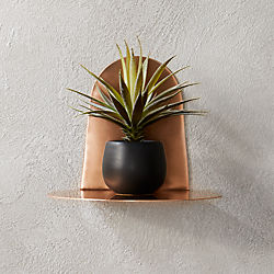 portal brushed copper shelf