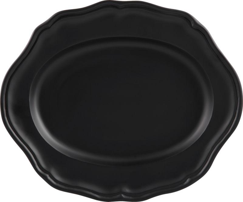 portrait black platter