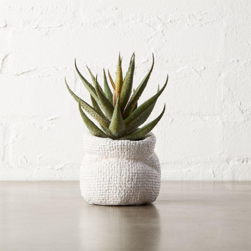 "6"" Small Faux Aloe Plant + Reviews"