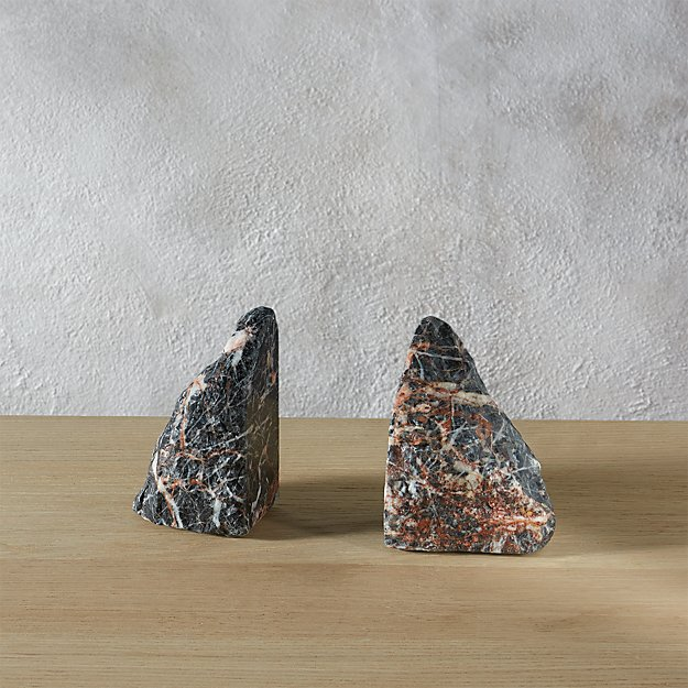 set of 2 precious stone bookends.