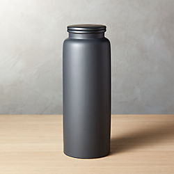Beautiful Prep Tall Black Canister