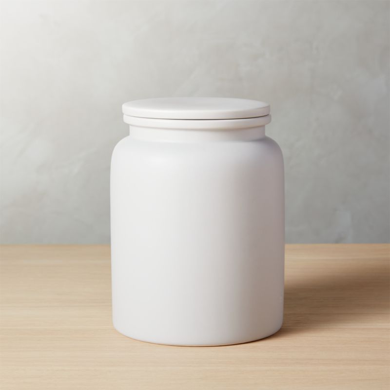 Superb Prep Light Grey Large Canister